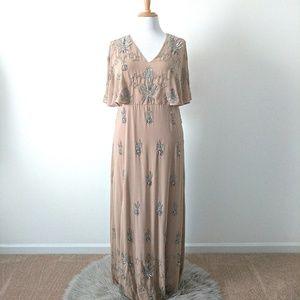 Lovedrobe Luxe Embellished Kimono Maxi Dress